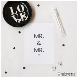 Mr & Mr || Ansichtkaart || per 5 stuks