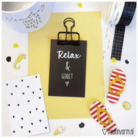 Relax & geniet    Mini-kaart    per 5 stuks
