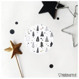 Sticker || Kerstboompjes || per doosje 250 stuks