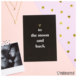 ♡to the moon and back || Ansichtkaart || per 5 stuks