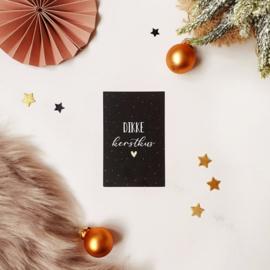 Mini-kaart || Dikke kerstkus || per 5 stuks