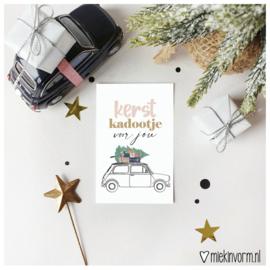 Kerst kadootje voor jou || Mini-kaart || per 5 stuks
