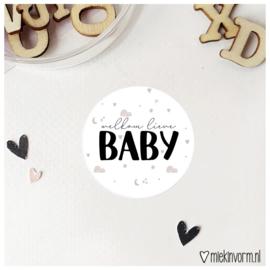 Sticker || Welkom lieve baby || per doosje 250 stuks