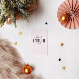 Mini-kaart || Kerst kadootje voor .... || per 5 stuks