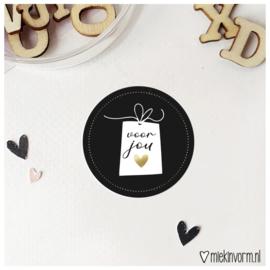 Sticker || voor jou || goudfolie || per doosje 250 stuks