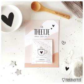 Ansichtkaart + theezakje || Een theetje doen samen? || per 5 stuks