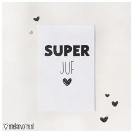SUPER juf || Mini-kaart || per 5 stuks