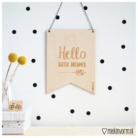 Mini - vaandel || Hello little dreamer || per 5 stuks