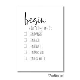 Begin de dag met ..... || Ansichtkaart || per 5 stuks