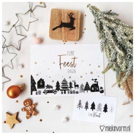 Fijne feestdagen || Ansichtkaart || per 5 stuks