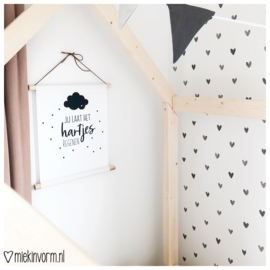 Textielposter || Jij laat het hartjes regenen