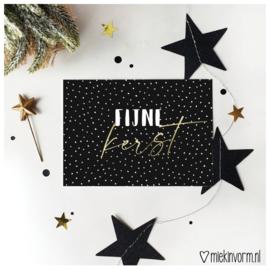 Fijne kerst || Ansichtkaart || per 5 stuks