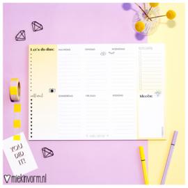 Weekplanner A4 || Let's do this || per 5 stuks
