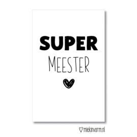 Mini-kaart || SUPER meester || per 5 stuks