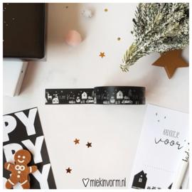 Masking tape || Fijne kerst || per 5 stuks