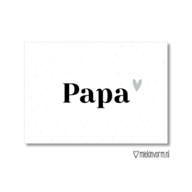Ansichtkaart || papa || per 5 stuks