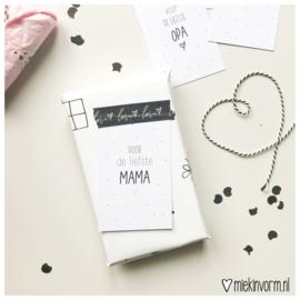 Voor de liefste mama || Mini-kaart || per 5 stuks