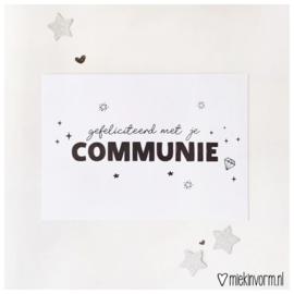 Gefeliciteerd met je communie || Ansichtkaart || per 5 stuks