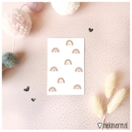 Regenboogjes || Mini-kaart || per 5 stuks