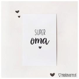 Super oma || Mini-kaart || per 5 stuks