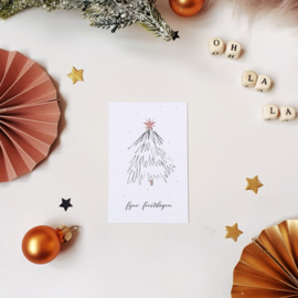 Mini-kaart || Fijne feestdagen || per 5 stuks
