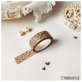 Masking tape || Luipaard roze || per 5 stuks