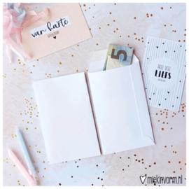 Envelop mini || wit || per 5 stuks