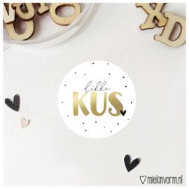 Sticker || Dikke kus || goudfolie || per doosje 250 stuks