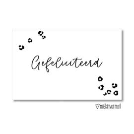 Gefeliciteerd || Mini-kaart || per 5 stuks