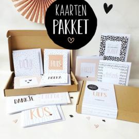 Kaartenpakket || 10 dubbele kadokaarten met envelop || per 5 st