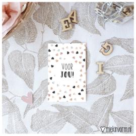 Voor jou || Mini-kaart || per 5 stuks