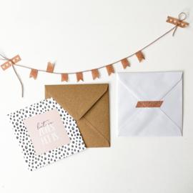 Envelop XL || kraft || afmeting 15,5 cm x 15,5 cm || per 5 stuks
