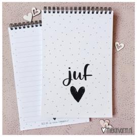Ringband notitieboek || Juf ||  per 5 stuks
