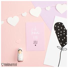 Ik hou van jou || Mini-kaart || per 5 stuks