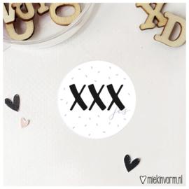 Sticker || XXXjes || per doosje 250 stuks