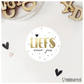 Sticker || Liefs voor jou || goudfolie || per doosje 250 stuks