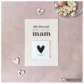 Ansichtkaart + zakje bloemzaadjes || Een fleurige groet voor jou mam || per 5 stuks