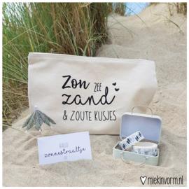 Etui    Zon, zee, zand & zoute kusjes    per 2 stuks