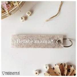 Sleutelhanger || Liefste mama || per 5 stuks