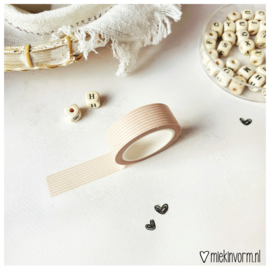 Masking tape || Horizontale streep || per 5 stuks