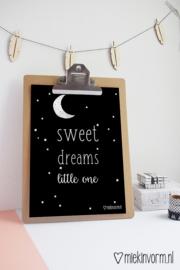 Sweet dreams little one || A4-poster || per 5 stuks