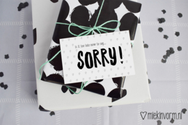 Is it too late now to say SORRY || Mini-kaart || per 5 stuks