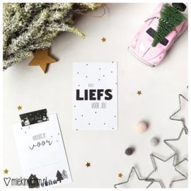 Kerst liefs voor jou || Mini-kaart || per 5 stuks