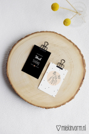 Meisje met bureau || Mini-kaart || per 5 stuks