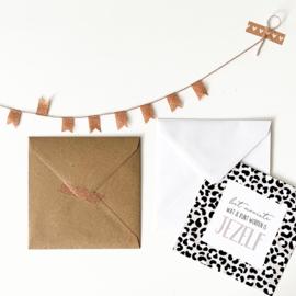 Envelop XL || wit || afmeting 15,5 cm x 15,5 cm || per 5 stuks