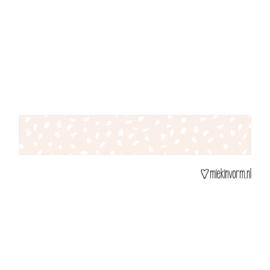 Masking tape || lichtroze met witte vlekjes || per 5 stuks