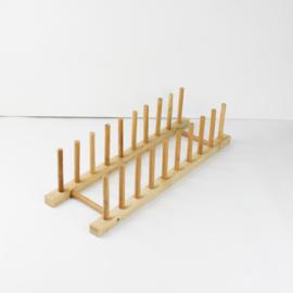 Houten rekje lang | display