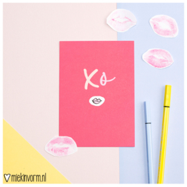 XO || Ansichtkaart || per 5 stuks