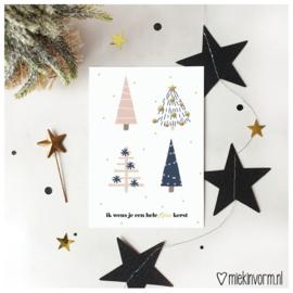 Ik wens je een hele fijne kerst || Ansichtkaart || per 5 stuks