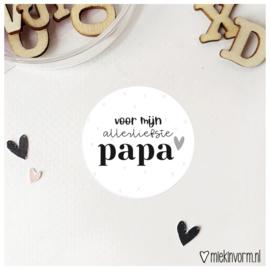 Sticker || voor mijn allerliefste papa || per doosje 250 st